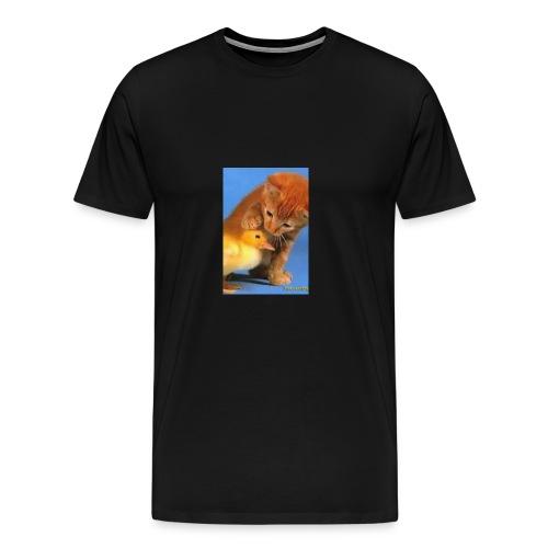 Cat Water Bottle - Men's Premium T-Shirt