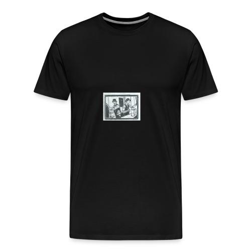 behind the bar - Men's Premium T-Shirt