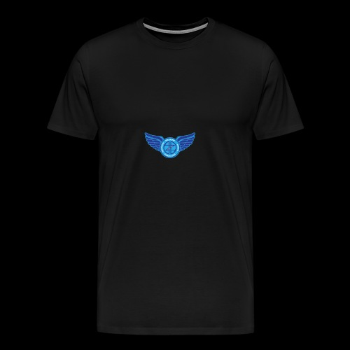Winged Out Blue/White - Men's Premium T-Shirt