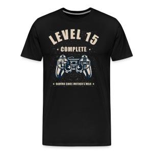 Level 15 Complete Video Gaming T Shirt - Men's Premium T-Shirt