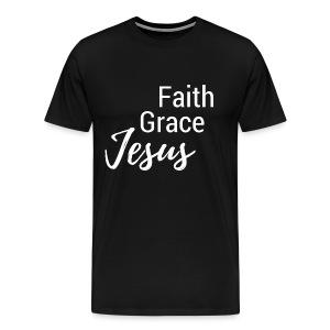 Faith Grace Jesus - Men's Premium T-Shirt