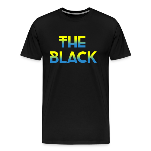 The Black Logo [Blue and Yellow] - Men's Premium T-Shirt
