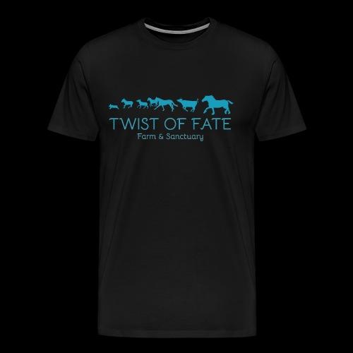 Twist of Fate Farm and Sanctuary Logo - Men's Premium T-Shirt