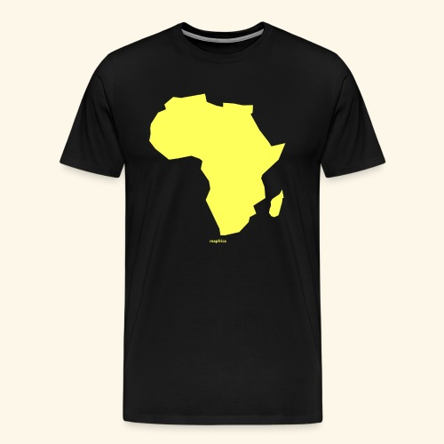 Africa Map Continent yellow - Men's Premium T-Shirt