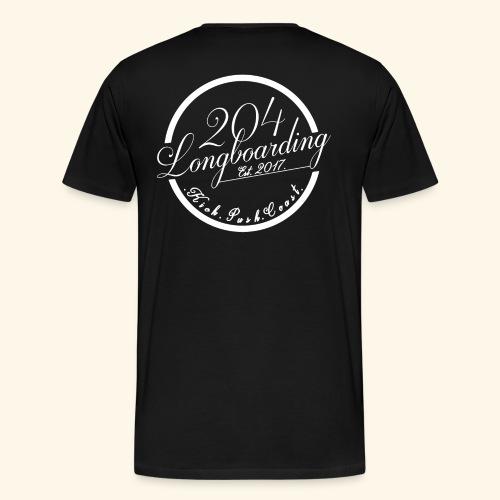 Circle Logo White - Men's Premium T-Shirt
