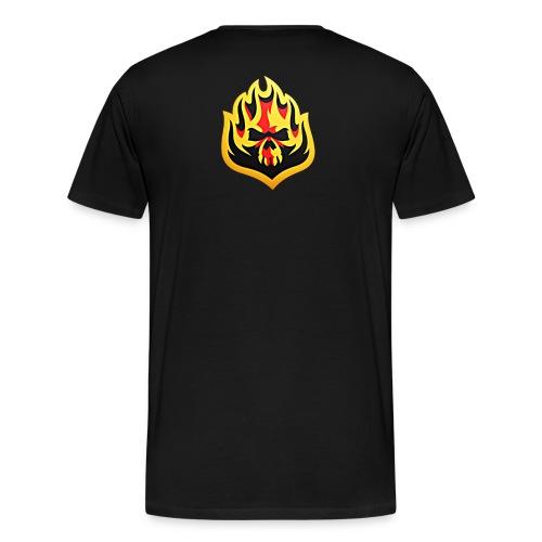 ListenTunes Fire Skull - Men's Premium T-Shirt