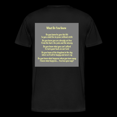 What Do You Know - Men's Premium T-Shirt