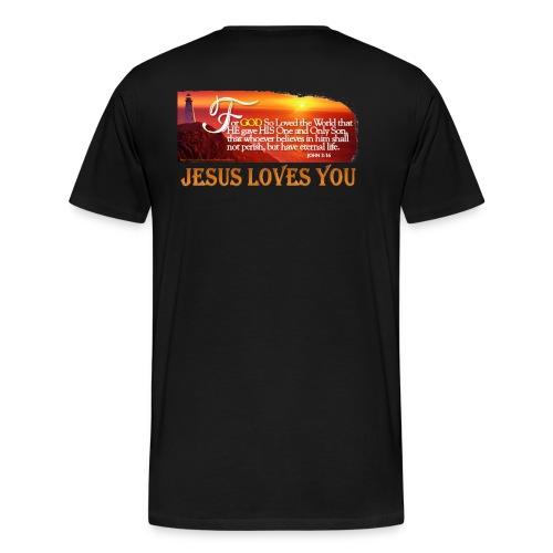 Lighthouse JOHN 3 16 - Men's Premium T-Shirt