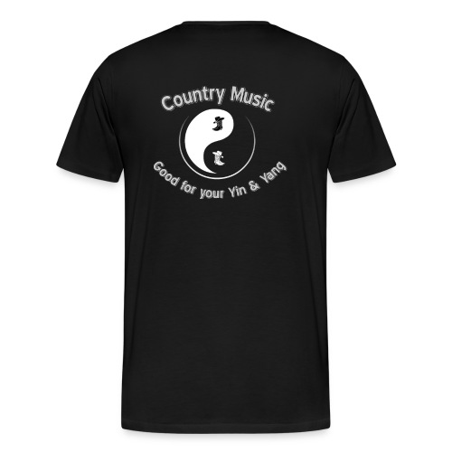 Country Good for your Yin Yang No Background - Men's Premium T-Shirt