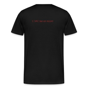 1 VAC BAN ON RECORD - Men's Premium T-Shirt