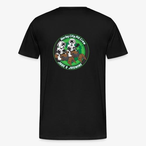 Jade and Jasmine Graphic Art - Men's Premium T-Shirt