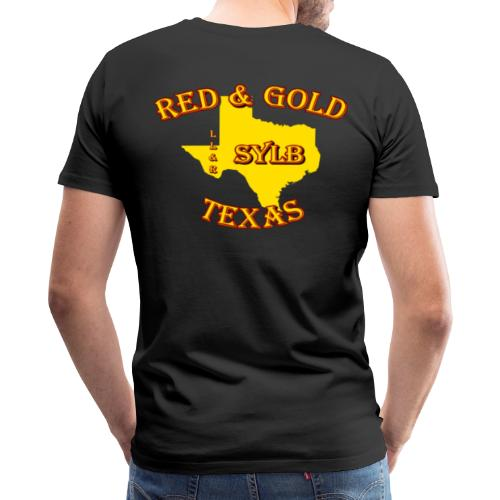 Red and Gold Support #2 - Men's Premium T-Shirt