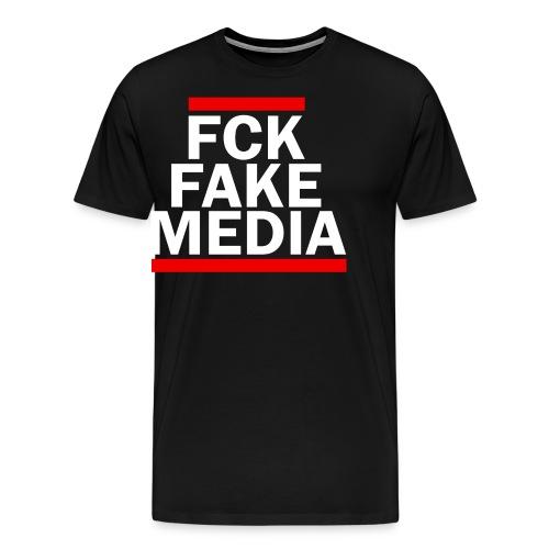 FCK FAKE MEDIA - RED - Men's Premium T-Shirt