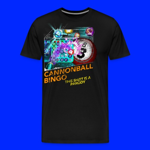Vintage Cannonball Bingo Box Art Tee - Men's Premium T-Shirt