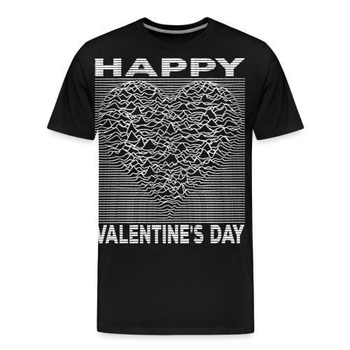 Love Lines Happy Valentines Day Heart - Men's Premium T-Shirt