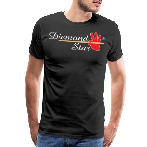 Diemond Star Logo White Font - Men's Premium T-Shirt