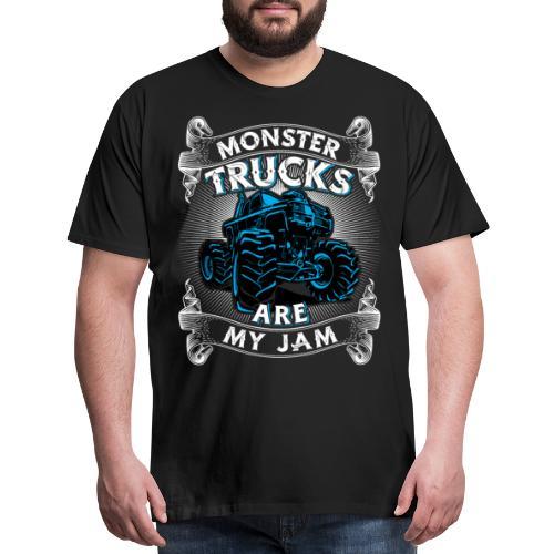 Monster trucks are my jam - Men's Premium T-Shirt
