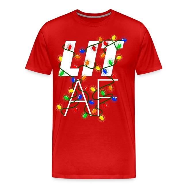 LIT AF Funny Christmas Lights Drunk Christmas