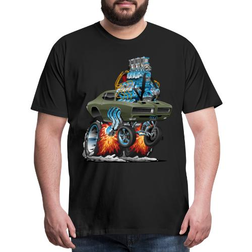 Classic American Muscle Car Hot Rod Cartoon - Men's Premium T-Shirt