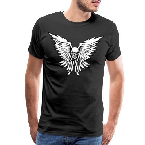 Classic Old School Skull Wings Illustration - Men's Premium T-Shirt