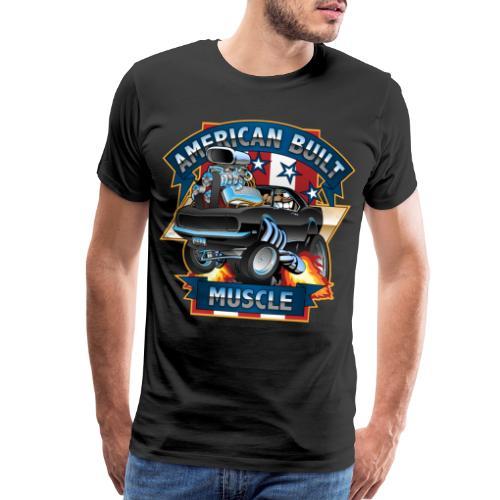American Built Muscle - Classic Muscle Car Cartoon - Men's Premium T-Shirt