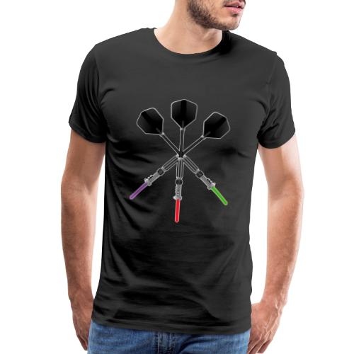 Darts Player Game Laser Fan Bullseye Wars Pub Gift - Men's Premium T-Shirt