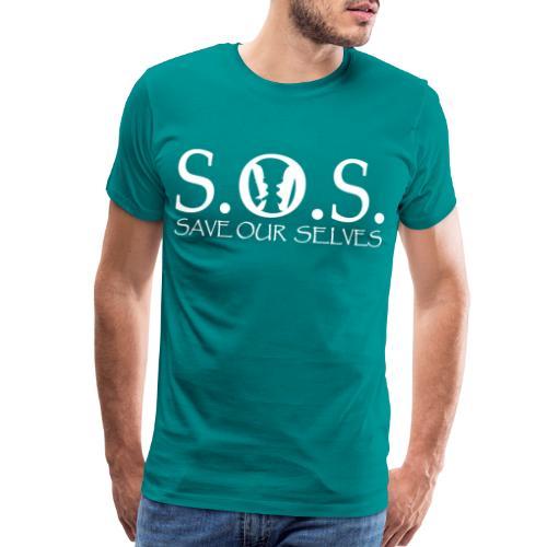 SOS WHITE4 - Men's Premium T-Shirt