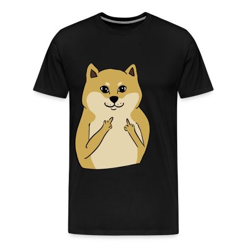 doge finger - Men's Premium T-Shirt