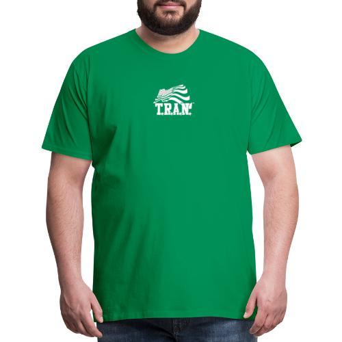 New Tran Logo Transparent inverted png - Men's Premium T-Shirt
