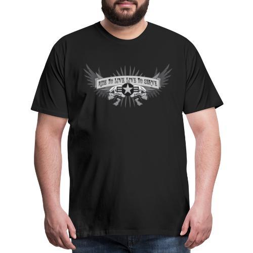 Ride to Live. Live to Serve. - Men's Premium T-Shirt