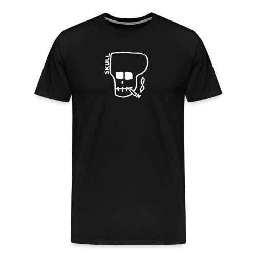Smoking skull - Men's Premium T-Shirt