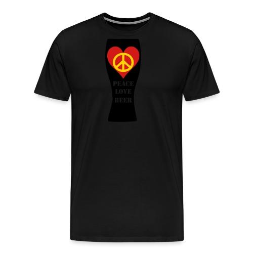 Peace Love Beer - Men's Premium T-Shirt