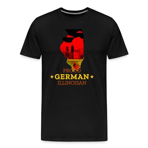 Proud German Illinoisan - Illinois State Pride - Men's Premium T-Shirt