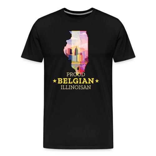 Proud Belgian Illinoisan - Illinois State Pride - Men's Premium T-Shirt