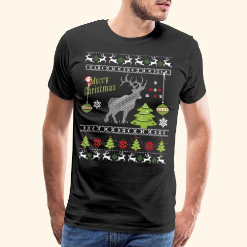 Ugly Christmes Sweater - Men's Premium T-Shirt