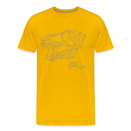 Jurassic Polygons by Beanie Draws - Men's Premium T-Shirt