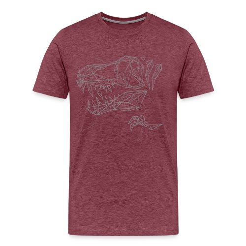 Jurassic Polygons by Beanie Draws - Men's Premium T-Shirt