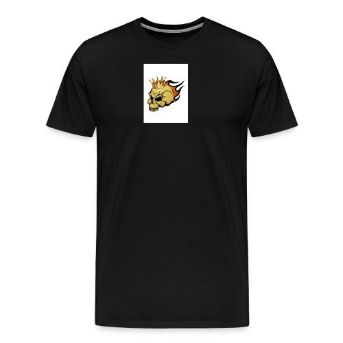 no way man king skull - Men's Premium T-Shirt