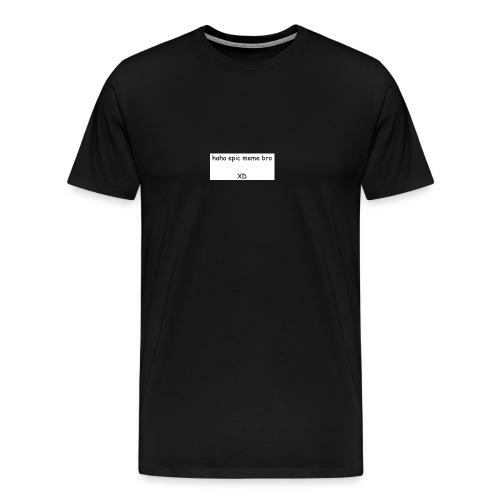 epic meme bro - Men's Premium T-Shirt