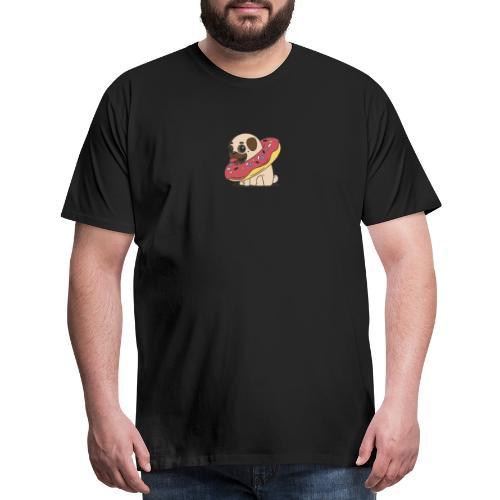 Donut Pug - Men's Premium T-Shirt