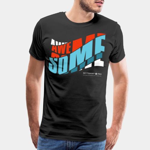 awesome t shirt design diagonal - Men's Premium T-Shirt