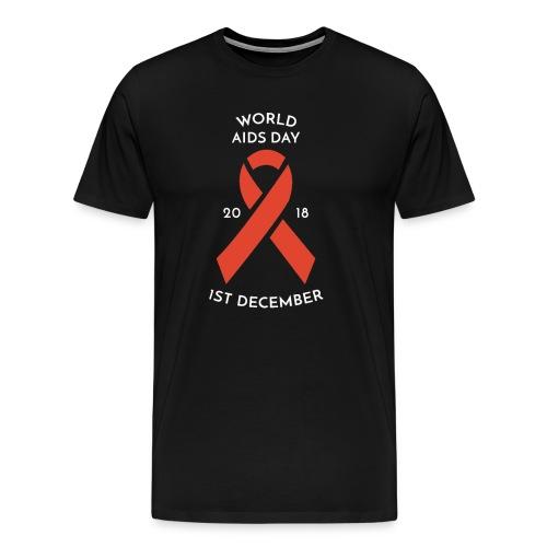 HIV and AIDS Awareness Day Red Ribbon T Shirt - Men's Premium T-Shirt