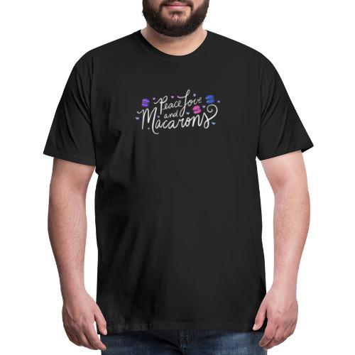 Peace Love and Macarons - Men's Premium T-Shirt