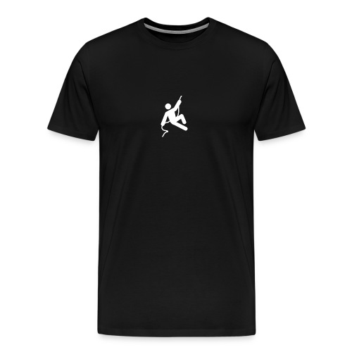 man on rope reversed png - Men's Premium T-Shirt