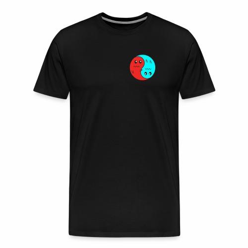 Yin And Yang Ghosts RED/BLUE - Men's Premium T-Shirt