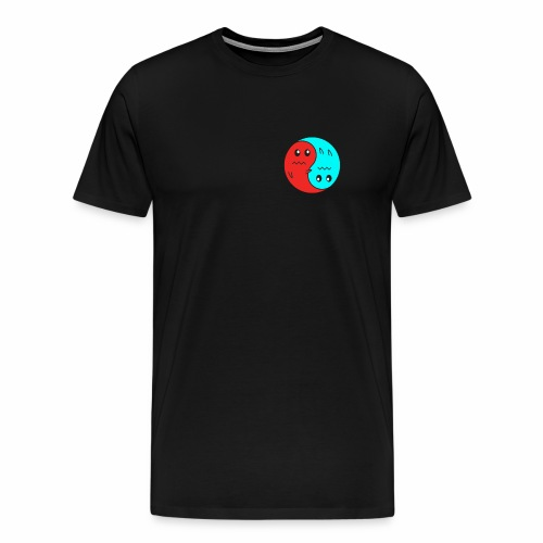 Yin And Yang Ghosts RED/BLUE - Men's Premium T-Shirt