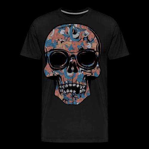 Abstract Skull With Sunglasses - Men's Premium T-Shirt
