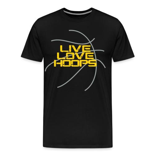 Live Love Hoops Basketball - Men's Premium T-Shirt