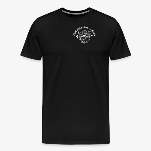 White Logo -- Clock and Fish - Men's Premium T-Shirt