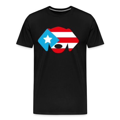 Puerto Rico Flag Dog Head - Men's Premium T-Shirt